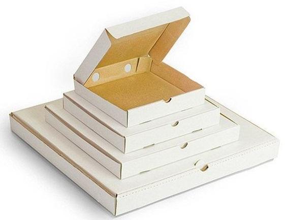 Коробки для пиццы белый гофрокартон
